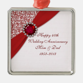 40 o Ornamento del aniversario de boda Ornamente De Reyes