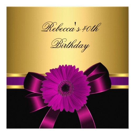 40.o Oro púrpura de la flor del rosa negro del cir Comunicados Personales