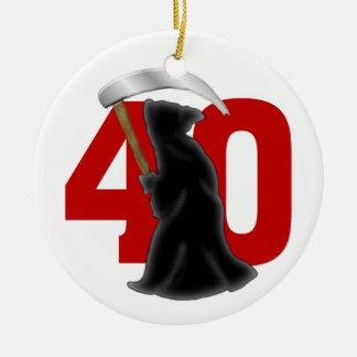 40.o Parca divertido del cumpleaños Ornamentos De Reyes