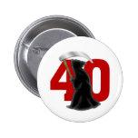 40.o Parca divertido del cumpleaños Pin