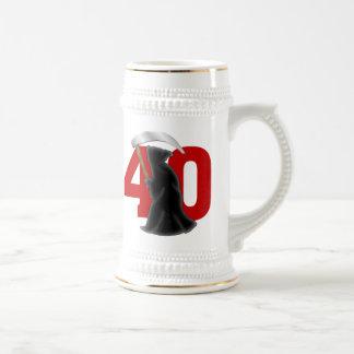 40.o Parca divertido del cumpleaños Tazas De Café