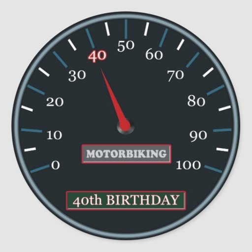 40.o Pegatina del cumpleaños