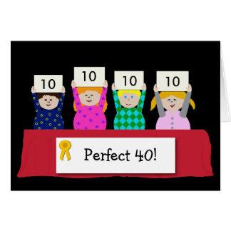 40.o Personalizable del cumpleaños Tarjeta De Felicitación