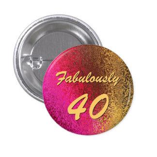 40.o Pin del botón del cumpleaños de la señora atr