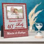 40.o Placa de rubíes de la foto del aniversario