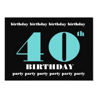 40.o Plantilla de la invitación de la fiesta de