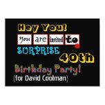 40.o Plantilla V01 de la fiesta de cumpleaños de Invitacion Personalizada