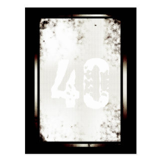 40.o Postal minimalista postmoderna del cumpleaños