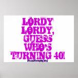 40.o poster adulto divertido del cumpleaños
