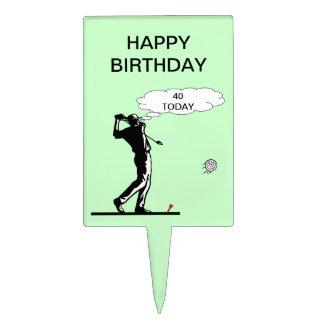 40.o primero feliz de la torta del golf del cumple decoraciones para tartas