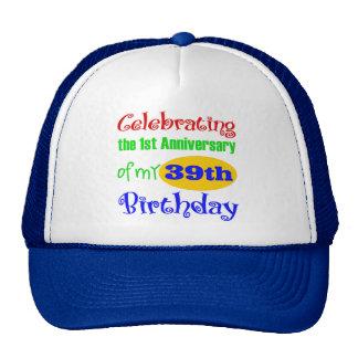 40.o regalo de cumpleaños divertido gorras