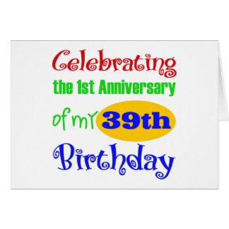 40 o regalo de cumpleaños divertido tarjetas