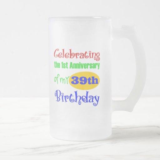 40.o regalo de cumpleaños divertido taza de café