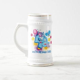 40.o Regalo de cumpleaños Jarra De Cerveza