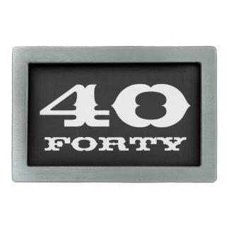 40.o Regalo de cumpleaños para la hebilla del Hebillas De Cinturón Rectangulares