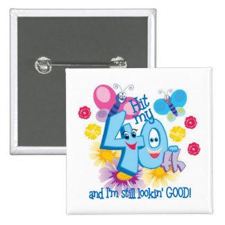 40.o Regalo de cumpleaños Pin