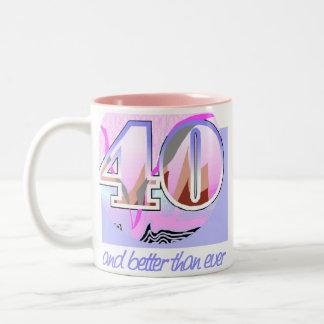 40.o Regalo de cumpleaños Taza De Dos Tonos