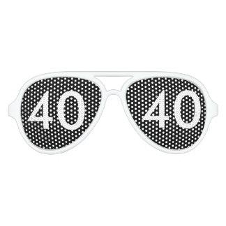 40.o Regalo de la mordaza del cumpleaños Lentes De Sol
