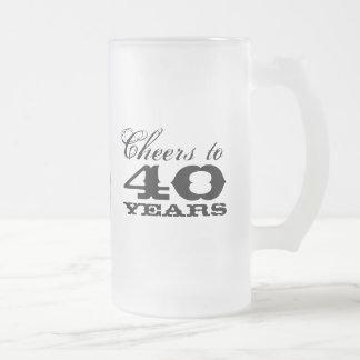 40 o Regalo de la taza de cerveza del cumpleaños p