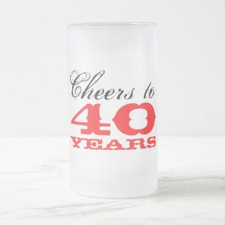 40 o Regalo de la taza el del vidrio de cerveza