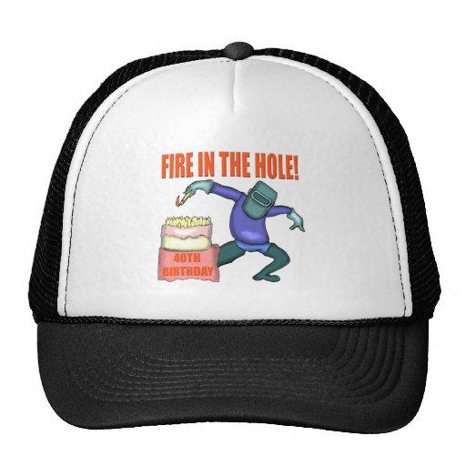40.o Regalo del casquillo del gorra del cumpleaños