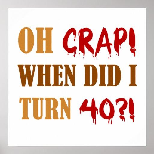 40.o regalo divertido de la mordaza del cumpleaños impresiones