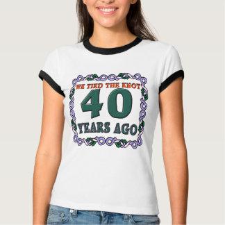 40.o Regalos del aniversario de boda Playera
