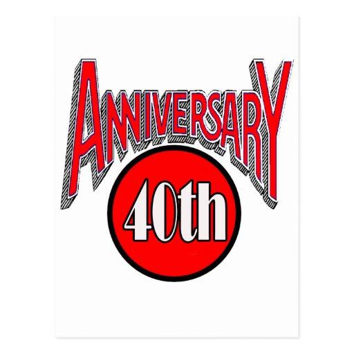 40.o Regalos del aniversario de boda Postales