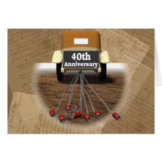 40.o Regalos del aniversario de boda Felicitacion