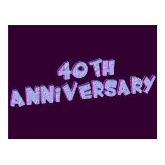 40.o Regalos del aniversario de boda Tarjeta Postal