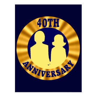 40.o Regalos del aniversario de boda Postal
