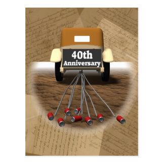 40.o Regalos del aniversario de boda Tarjetas Postales