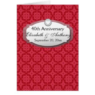 40.o Rojo de rubíes Z06 del aniversario de boda Tarjeta Pequeña