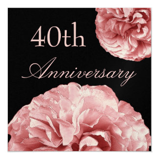 """40.o Rosas del ROSA EN COLORES PASTEL de la Invitación 5.25"""" X 5.25"""""""