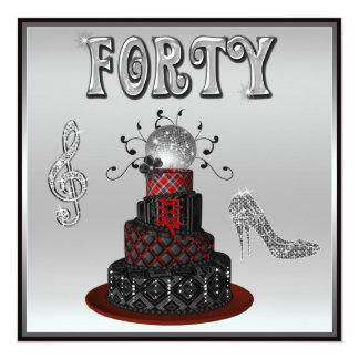 """40.o Tacones altos de la chispa de la torta de la Invitación 5.25"""" X 5.25"""""""