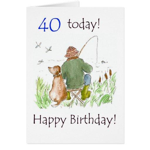 40.o Tarjeta de cumpleaños