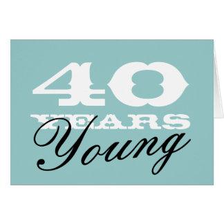 40.o Tarjeta de cumpleaños para los hombres y las