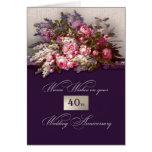 40.o Tarjetas de felicitación del aniversario de b