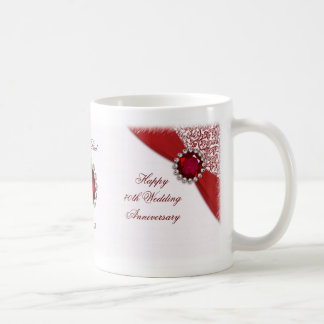 40.o Taza del aniversario de boda