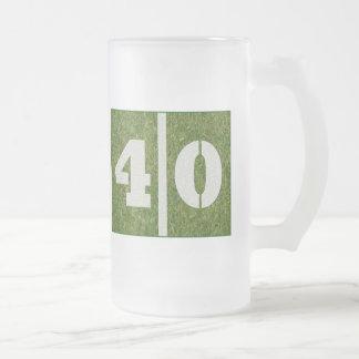 40.o Taza del vidrio del cumpleaños del fútbol de