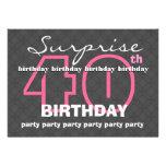 40.o Trullo moderno del cumpleaños de la SORPRESA  Invitación Personalizada
