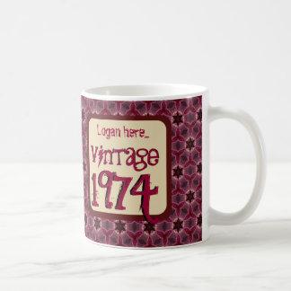 40.o Vintage 1974 del cumpleaños o cualquier VINO Taza
