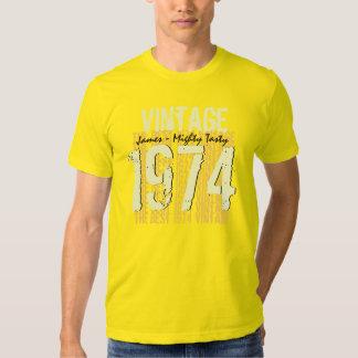 40.o Vintage 1974 del regalo de cumpleaños el Playera