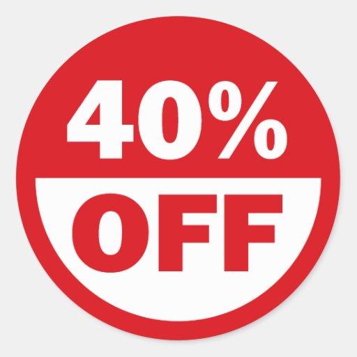 40% OFF STICKER