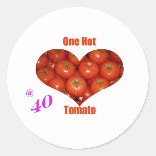 40 One Hot Tomato Round Sticker