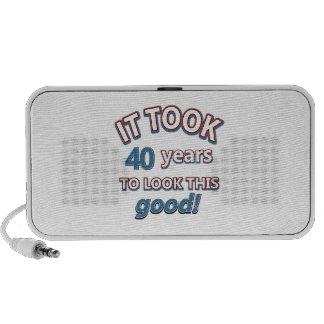40 os diseños años del cumpleaños mini altavoz