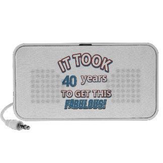 40 os diseños del cumpleaños del año iPod altavoces