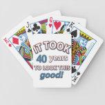 40.os diseños del cumpleaños del año barajas de cartas