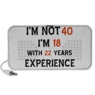 40 os diseños del cumpleaños mp3 altavoz