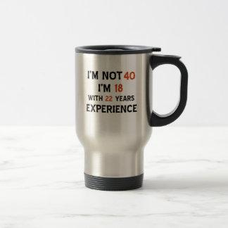 40.os diseños del cumpleaños taza de café